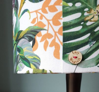 Hibiscus Floral Lampshade and Lucy Wagtail Button