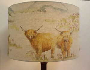Highland Cattle Fabric by Voyage